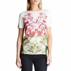 ted baker renella mirrored tropics shirt floral